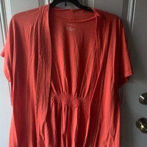 Lane Bryant Short Sleeve Cardigan Size 22/24